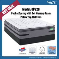 New Design Pocket Spring with Cool Gel Memory Foam Pillow Top Mattress