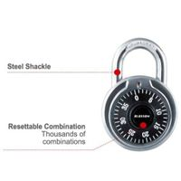 Round Type Aluminum Alloy Combination Padlock