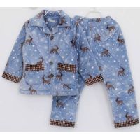 children's coral fleece cotton winter pajamas