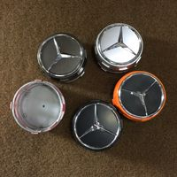 75mm Mercedes Benz wheel caps AMG SET Emblem Logo For C E S SL SLK CLS GL GLE
