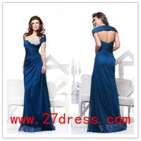 2013 Sexy Cheap New Off Shoulder Beaded Chiffon Floor Length Beach evening dress on sale