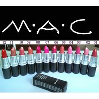 Famous Brand Mac Lipsticks 24 Colors Professional Cosmetic Lip Gloss Makeup