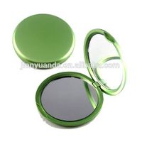 custom made plastic frame pocket size double folding cosmetic mirror