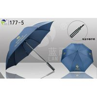 High-quality Titanium Shaft/Hand Golf Umbrella,Best for Client as Business Gift,Fiber Ribs,Anti-UV