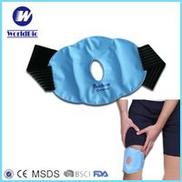 300grams Nylon reusable soft gel pack hot and cold compress for knee
