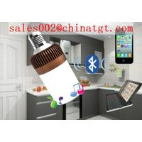 2014 hot selling bluetooth led bulb speaker