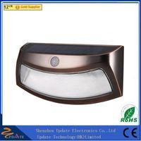 8 LED PIR solar motion sensor wall light thumbnail image