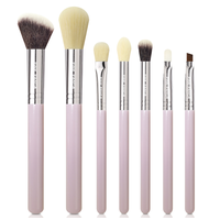 7pcs pink makeup brushes