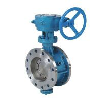D43 High Quality Pneumatic Single Action Hard Seal SS304 Butterfly Valves Manual thumbnail image
