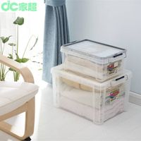 hot selling new clear Plastic Storage container with steel lock