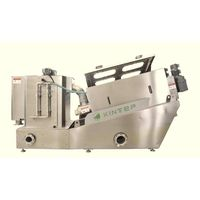 multi-disc sludge dewatering screw press for wastewater treatment