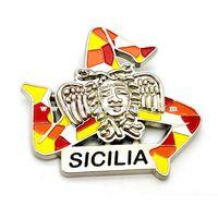 Mosaic Sicily Trinacria Souvenirs Italy Sicilia Fridge Magnet