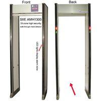 High security 33-zone walk-through metal detector door, walk through detector gate thumbnail image