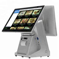 15.6 inch dual screen POS system with 58mm thermal printer touch screen POS system