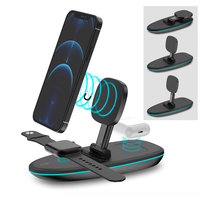 Amazon supplier 3 in 1 MagSafe 15W foldable Wireless Charger Stand for iphone apple watch AirPods thumbnail image