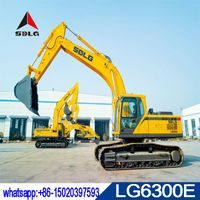 SDLG 30T hydraulic crawler excavator LG6300E with volvo technology