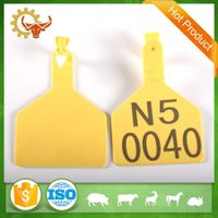 2016 China Supplier Farm Equipment Animal Plastic Cow Ear Tag thumbnail image