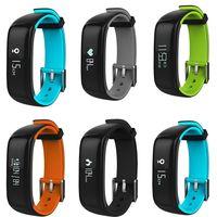 P1 Blood Pressure Recorder Bluetooth Waterproof Sports Bracelet for Mobile Phone