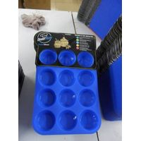 FDA FOOD GRADE NEW SILICONE BAKEWARE 12 CUP MUFFIN NON STICK,BAKEWARE CUP CAKE BAKING TRAY thumbnail image