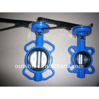 Lever (Manual) Wafer type Butterfly Valve/Handle Butterfly (DN40-DN300)
