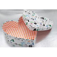 heart shape paper box with customers' design for packaging