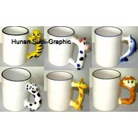 11oz Ceramic Animal Handle Mugs for Sublimation thumbnail image