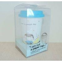 double wall porcelain mug wiht lid