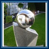 500mm stainless steel orbs decoration on water, garden thumbnail image
