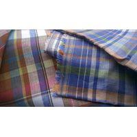 pure linen delave indanthrene check shirting fabrics