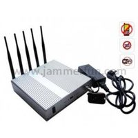 Wifi cell phone jammer 5 Band Cellphone WIFI Signal Jammer with Remote Control For Sale thumbnail image