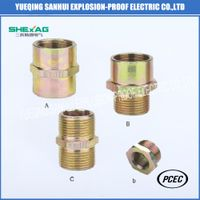 metal Pipe fitting/cable gland nipple