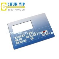 waterproof flat button keypad membrane switch from chunyip supplier