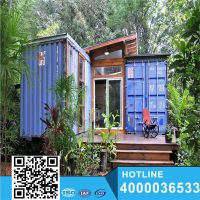 Blue Sea Color No Used Sales shipping container home/homes Flat Pack Container House thumbnail image