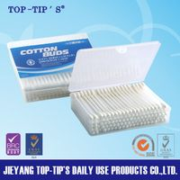 TOP TIP'S Plastic Stick Cotton Swabs-100 Pieces