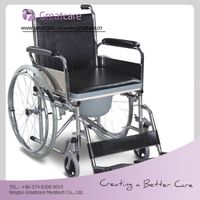New style manufacturer commode wheelchair for disabled people in rehabilitation therapy supplies wit