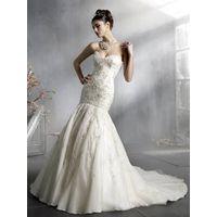 A-line Mermaid Sweep Train Wedding Bridal Dress/Wedding party dress