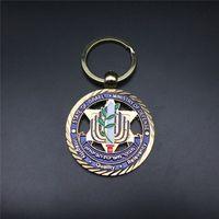sonier-pins custom soft enamel keychain with plating gold