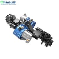 128KW 216000Nm dual electric motor central drive axle with transmission ev conversion kit for 12 me thumbnail image