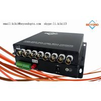 8ch HDCVI digital video with audio to fiber optic Tx and Rx for monitoring/security system