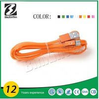 2015 colorful usb data smart link cable, data cables for Samsung
