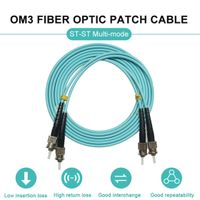 St-St Multi-Mode OM3 Fiber Optic Patch Cable