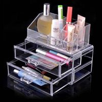 Transparent women PS makeup organizer