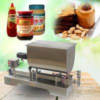 90-500ml,liquid paste filling mixing machine,piston filler machine,big hopper thumbnail image