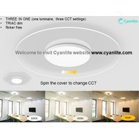 Shanghai Cyanlite CCT Changeable Transparent LED Ceiling Light SATURN thumbnail image