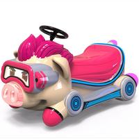 Electric amusement park bumper car Meng Meng pig battery children bumper car thumbnail image