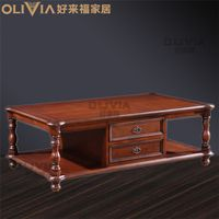 Chinese Style Wood table with 2 drawers wooden Tea desk