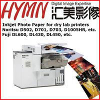 RC photo paper semi-glossy  for dry lab printers