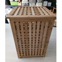 bamboo laundry basket, dirty clothes storage basket, home organizer