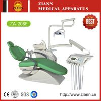 Dental Chair ZA-208E with LED Operating Light,Rotary Ceramic Spittoon and 9 Programs Inter-Lock Cont