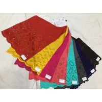 140 GSM Rayon Chikan Sequin Embroidery Fabric